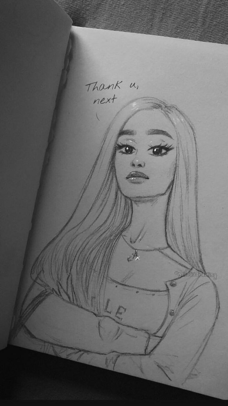 Thank u, next / Ariana Grande / Drawing – #Ariana …