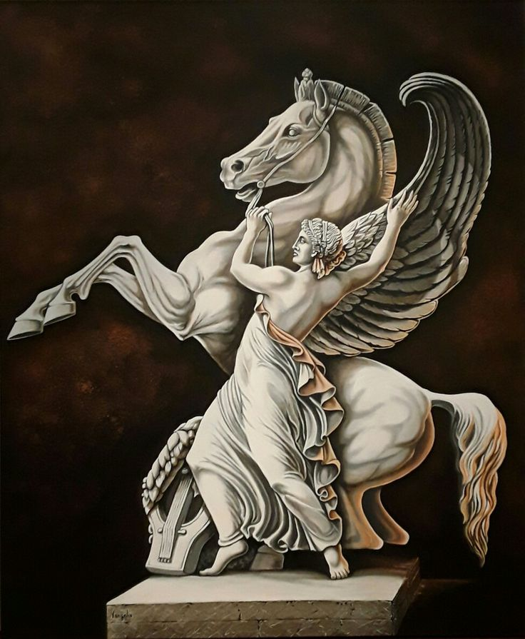 "Vangelis, ""pegasus"" acrylics on canvas (100×120cm)"