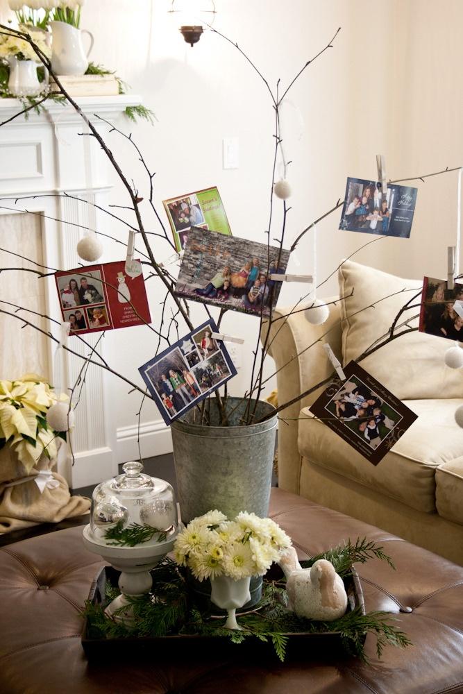 Christmas card tree