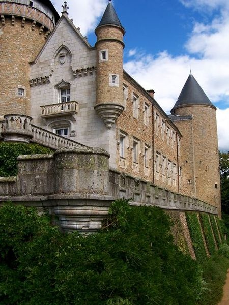 Château de Busset, Allier - France || A medieval castle which has been developed into a château in the commune of Busset in the Allier département of France. It is the ancestral home of the Bourbon-Busset family, an illegitimate branch of the House of Bourbon, being thus agnatic descendants of the Capetian dynasty. Historically they have been regarded as non-dynastic since decisions rendered by Louis XI of France. It is currently owned by a Swiss family
