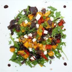 Biltong and roast butternut salad [ NYBiltong.com ] #biltong #recipe #flavor