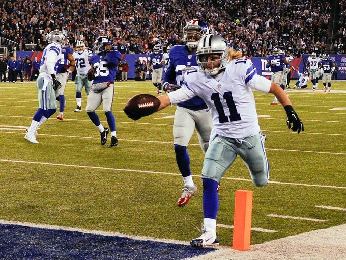 Dallas Cowboys wide receiver Cole Beasley (11) scores