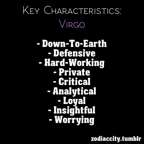 Zodiac Signs Personality virgo | year ago with 2,353 notes — via zodiaccity