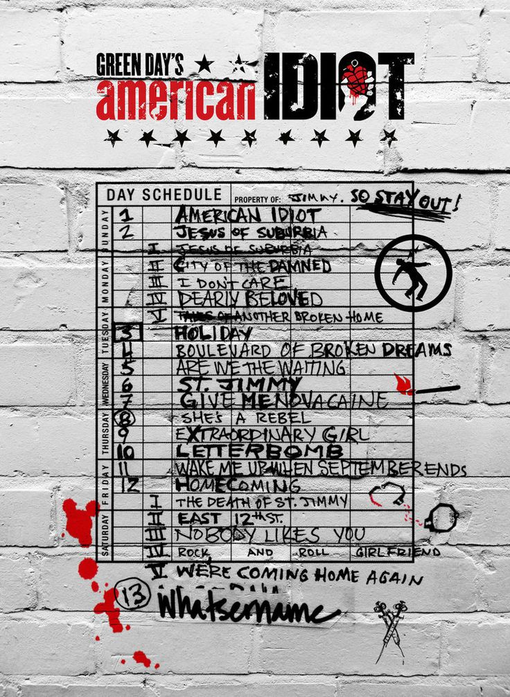 Green Day - American Idiot: Poster by Seemann666