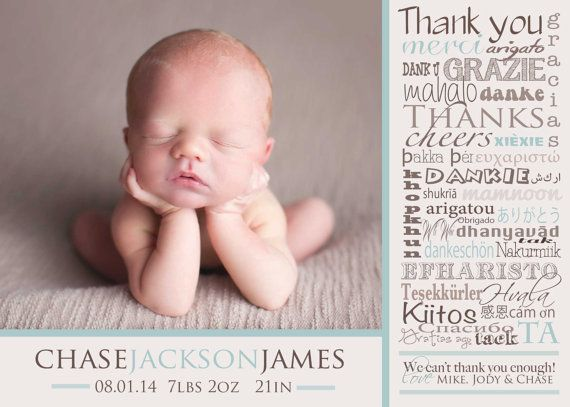 8 best Thankyou card images – Baby Announcement Cards Etsy
