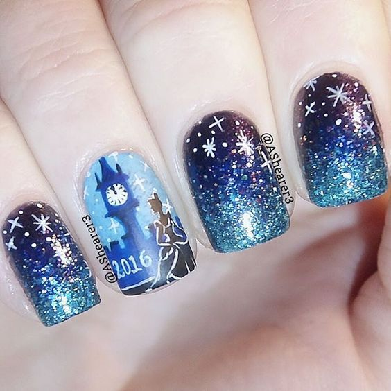 "Nail Art Inspired by Disney's ""Cinderella"":"