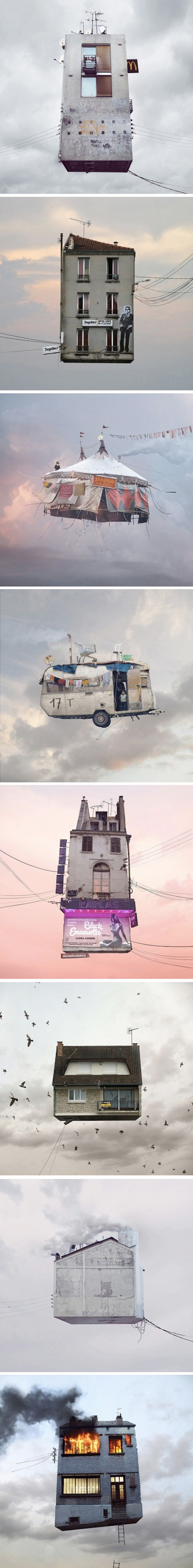 Flying Houses par Laurent Chéhère | Journal du Design