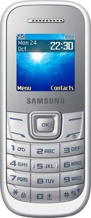 Samsung GT-E1200 Eider White  — 1290 руб. —  Сотовый телефон Samsung GT-E1200 Eider White –бюджетная модель от одного из флагманов рынка.Этот аппарат отличается хорошим качеством передачи речи, уверенно принимает сигнал сети и выполнен в практичном корпусе с прорезиненным блоком кнопок.Благодаря достаточно мощному аккумулятору телефон работает от одной зарядки 3-5 дней.Цветной дисплей Samsung GT-E1200 Eider White позволяет регулировать степень яркости экрана, что также обеспечивает экономию…