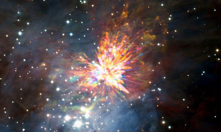 LAS ESPECTACULARES IMÁGENES DEL NACIMIENTO DE UNA ESTRELLA CAPTADAS POR EL TELESCOPIO ALMA EN CHILE Así se vio el encuentro cercano ocurrido hace 500 años entre dos jóvenes protoestrellas