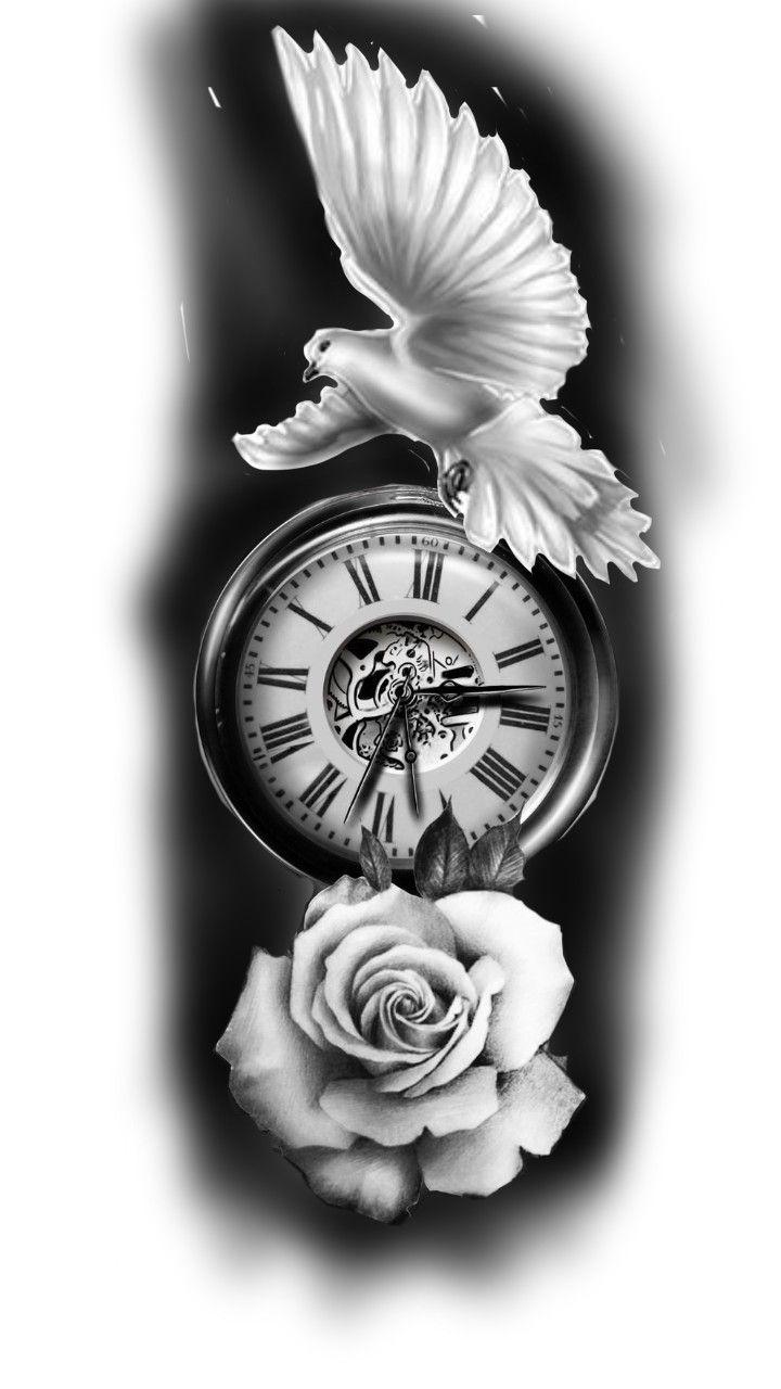 Pin De Latisha Long Em Minhas Criacoes Tatuagens De Pomba Tatuagem Relogio Com Rosas Tatuagens De Pomba Da Paz