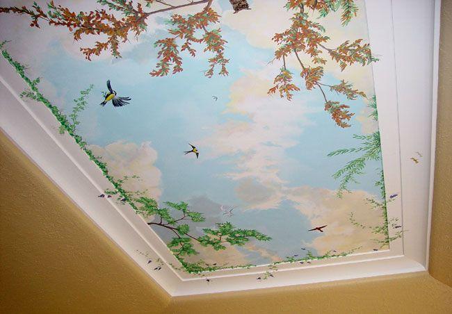 Ceiling Sky Mural - (650×452) | Trompe l'oeil | Mural