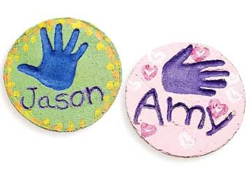 Playful Garden Plaques Personalize a garden stone for Dad or Mom that will last through all the seasons.
