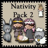 Free Nativity 2 Pack for ages 2 to 8 - Includes finger puppets, tell the story with pictures, dot markers and some coloring activities. - 3Dinosaurs.com