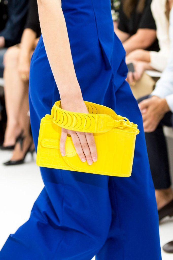 Salvatore Ferragamo Spring '17 Yellow Wristlet