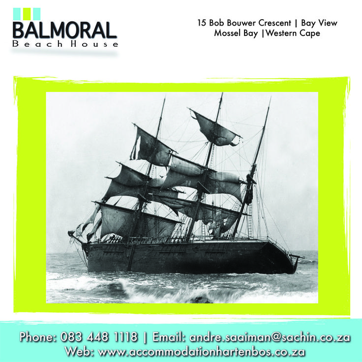 Although Mossel Bay is a sheltered, safe haven for shipping, it's also seen its fair share of marine tragedies. Melbourne (1862). She struck a line of rocks 70 metres from the shore, and wrecked at Buffelshoek, on 4 November 1862.  Want to read more just click here: http://besociable.link/o1 #Wreck #MosselBay #ship