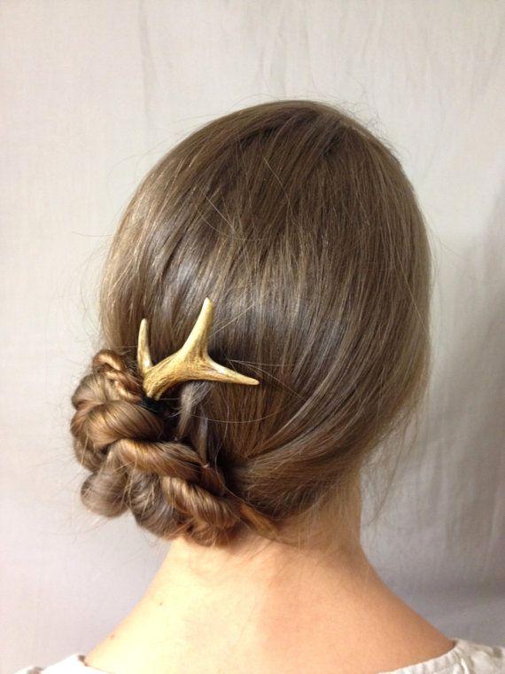 Natural Hair Accessory Hair Stick Hair Pin Antler Bone