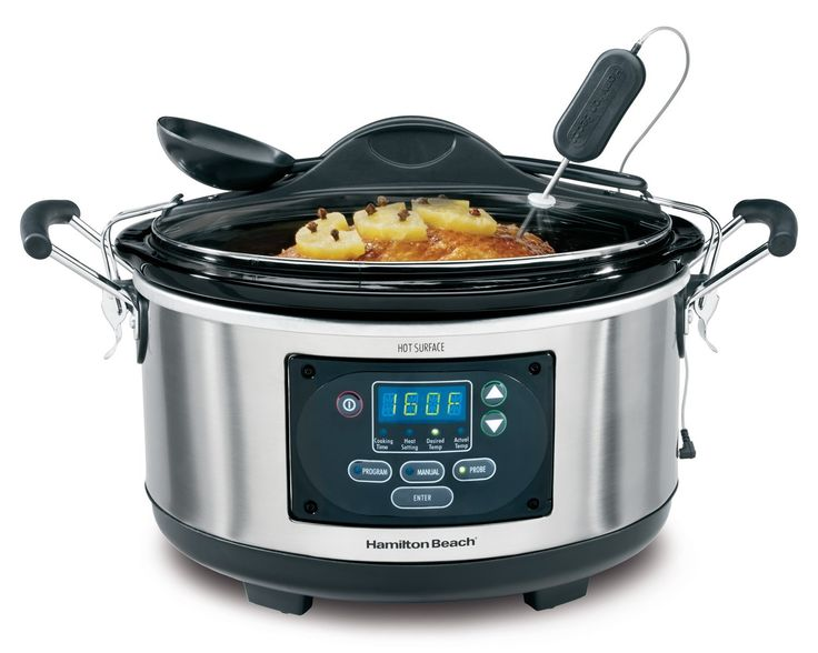Hamilton Beach Set 'n Forget Programmable Slow Cooker With Temperature Probe, 6-Quart