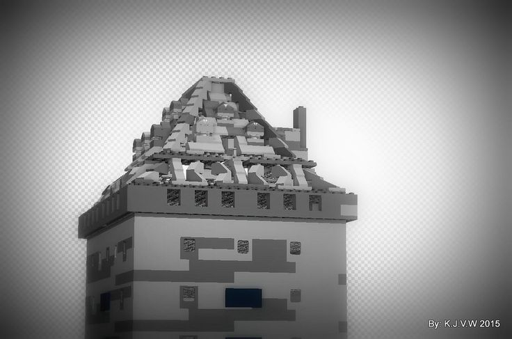 https://flic.kr/p/wyVp7r | Donjon of Almere Castle Close Up | Used in ''Kasteel Almere (Lego V.S Real) 4'', i used it with effects.