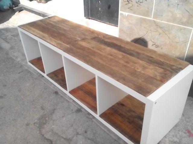 Mueble ikea con madera