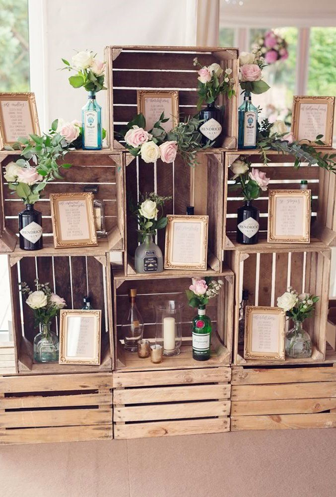 wooden crates wedding ideas reception details Jessica Raphael  – set the date – my personal wedding fixation :)