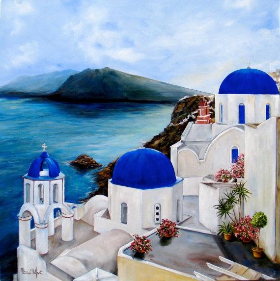 Santorini by PatDeHart on Etsy, $20.00