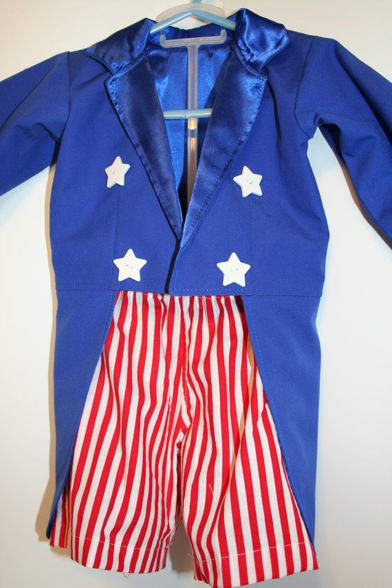 Girls or Boys 2 Piece Uncle Sam Outfit Jacket by CupcakesCottage