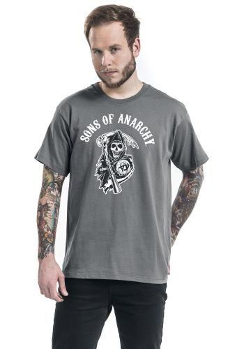 """Classica T-Shirt uomo grigia """"Reaper"""" della serie televisiva #SonsOfAnarchy."""