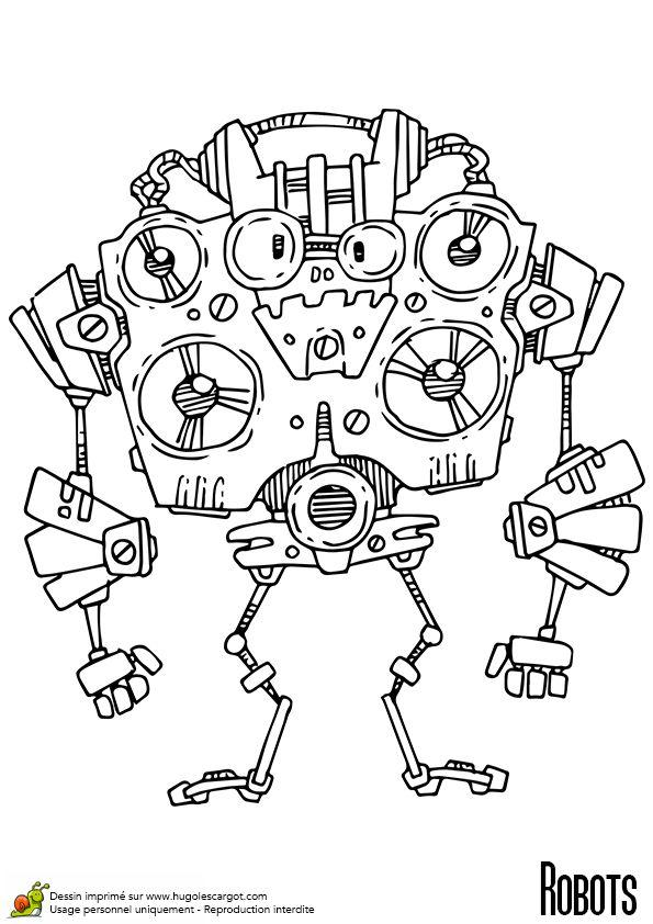 Les 25 meilleures id es de la cat gorie coloriage robot - Comment dessiner goldorak ...