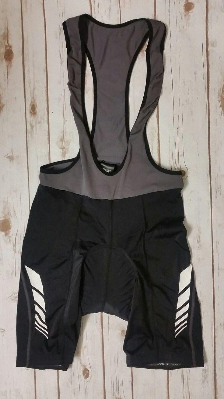 Mens Descente Bike Cycling Bib Shorts Suit Jersey Padded Large L Black