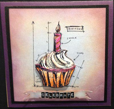 Scrapbook Territory: Tim holtz new stamps in - Birthday Blueprints