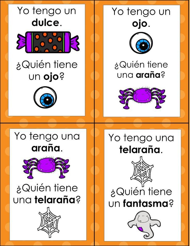 Halloween en Español vocabulario, juegos y escritura