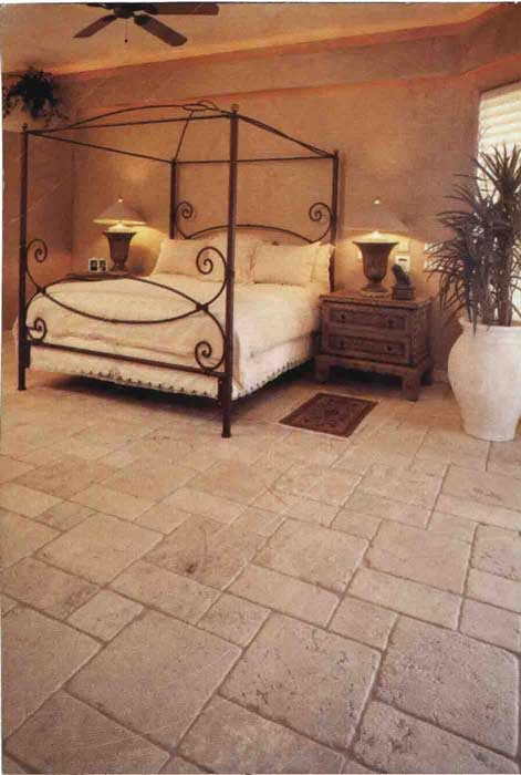 #Travertine #Tiles Natural Antique #Bedroom #UnionTiles www.uniontiles.co.za