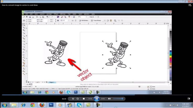 Quickly Convert image to Vector in corel draw