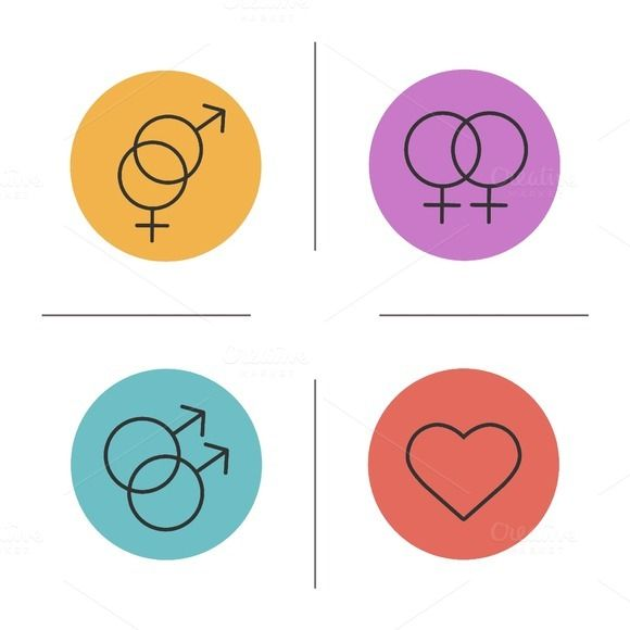Gender symbols icons. Vector  @creativework247