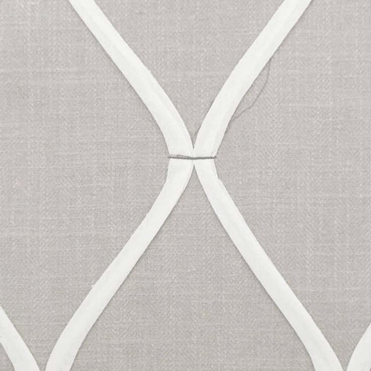 Roman Blinds in Hexel Applique Fabric - Grey (26269114) - Casadeco Slowtime Fabrics Collection