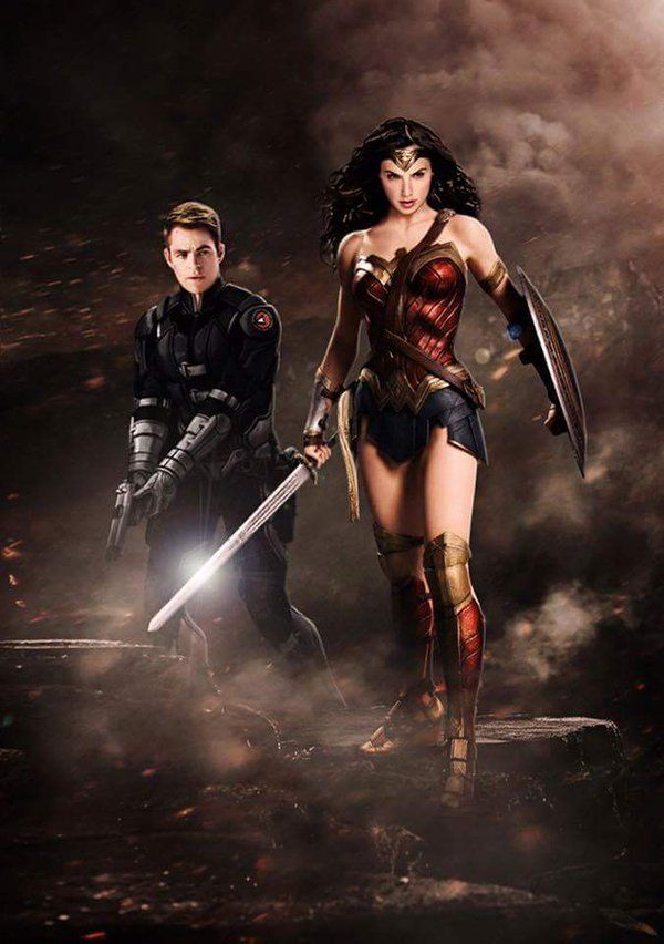 'Wonder Woman' and 'Captain Steve Trevor' in the 'Wonder Woman' movie (2017)