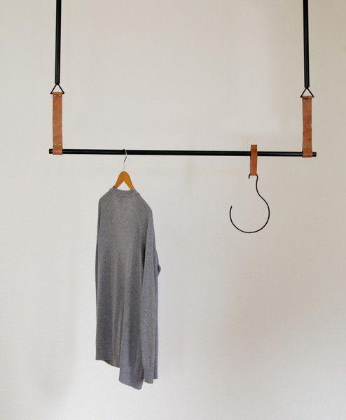 Garderobe,+Stahl+und+Leder++von+atelier29+auf+DaWanda.com
