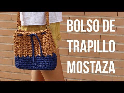 Tutorial cómo hacer un bolso de trapillo con ganchillo - Fácil DIY - YouTube