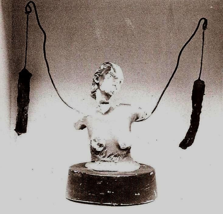 Sculpture by Genesis P-Orridge, Tampax Romana, exhibited in Prostitution, 1976, from Simon Ford's Wreckers of Civilization: The Story of COUM Transmissions and Throbbing Gristle