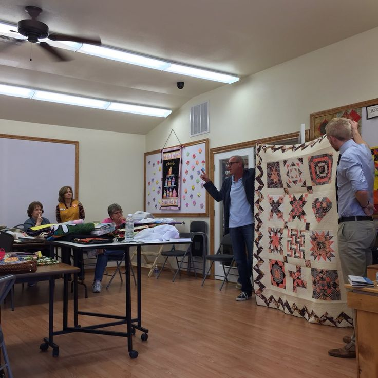 """""""@alexveronelli mid lecture at @CountryLivingQu yesterday. Stop by the shop and pick up some awesome #Aurifil cotton!"""""""