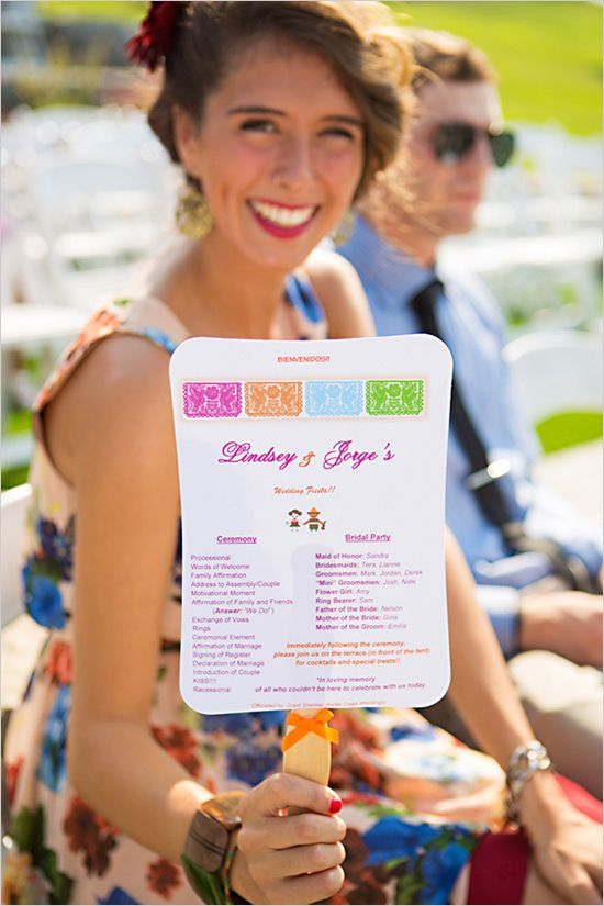 fiesta wedding program