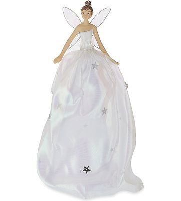 #Gisela #graham 28cm irridescent tree top topper #fairy angel christmas decoratio, View more on the LINK: http://www.zeppy.io/product/gb/2/351526776162/