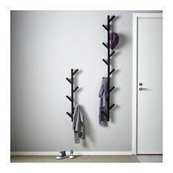 IKEA - TJUSIG, Hanger, wit, , De hanger helpt je een lege muur om te toveren tot een praktische opbergplek voor kleren, tassen en schoenen.Benut de hoogte nog meer door twee hangers op elkaar te zetten.Massief hout is een slijtvast natuurmateriaal.