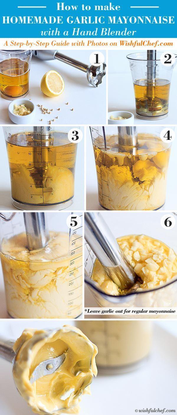 How to Make Homemade Garlic Mayo with a Hand Blender (scheduled via http://www.tailwindapp.com?utm_source=pinterest&utm_medium=twpin&utm_content=post53206968&utm_campaign=scheduler_attribution)
