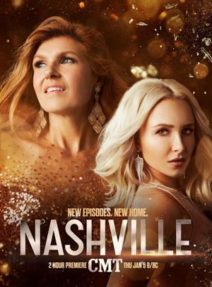 Nashville (CMT-June 1, 2017) Season 5 a drama romance music series created by Marshall Herskovitz, Callie Khouri, Edward Zwick  Set in the lives of country music superstars as well as the up-and-coming performers and songwriters trying to get ahead in the business.  Stars: Rhiannon Giddens, Jen Richards, Cameron Scoggins, Connie Britton, Hayden Panettiere, Clare Bowen, Chris Carmack, Charles Esten, Jonathan Jackson, Sam Palladio, Maisy Stella, Lennon Stella, Joseph David-Jones, Jeff…