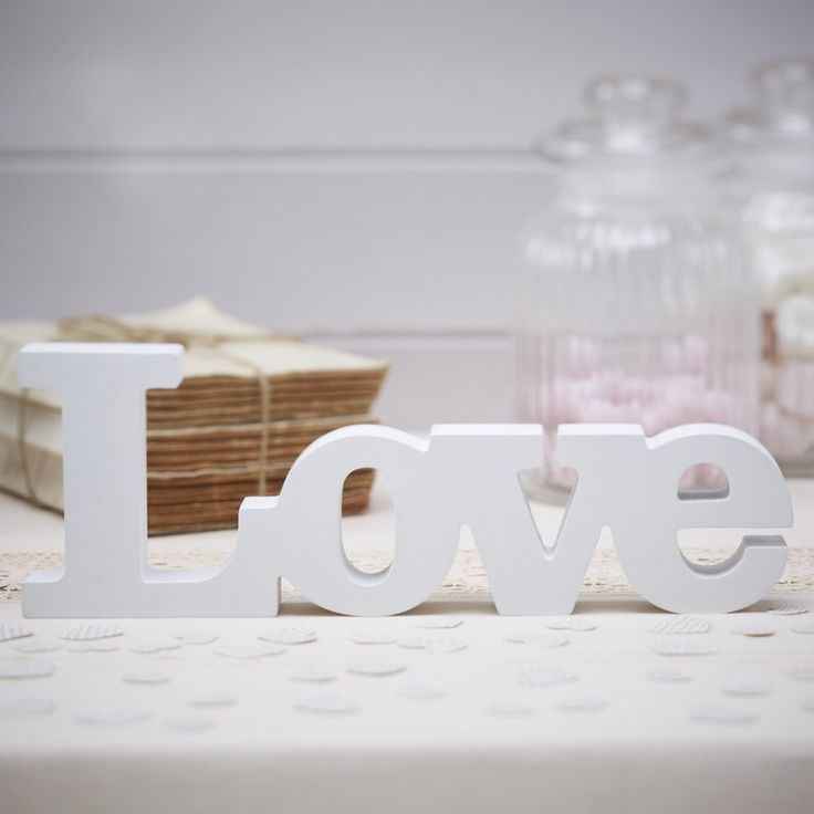 Love white sign to hire by Fuschia.