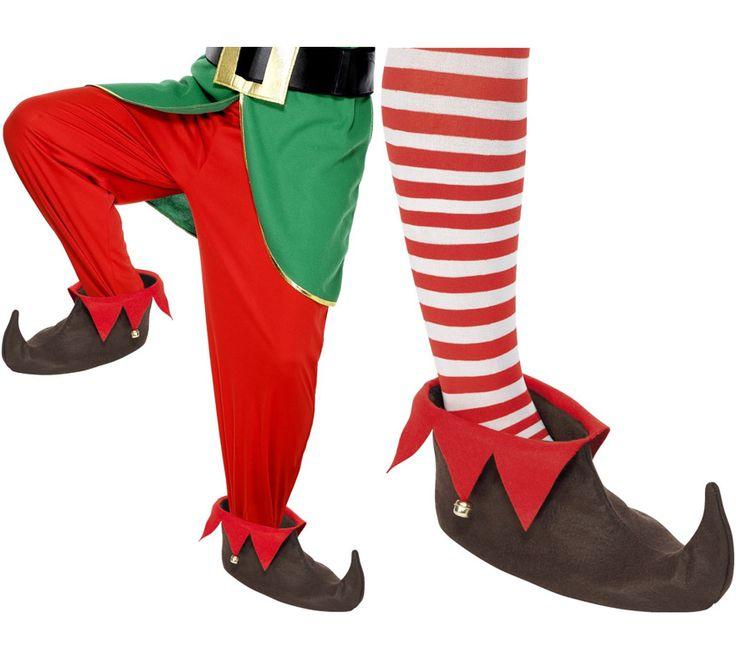 Zapatos de Elfo de color marrón con cascabel