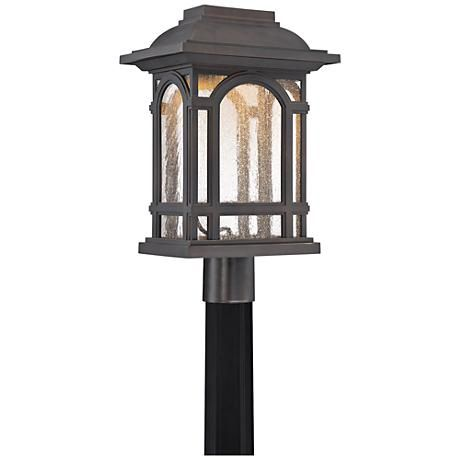"Cathedral 18 3/4""H Palladian Bronze LED Outdoor Post Light"
