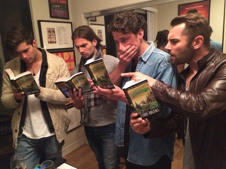 File this one under: Hot Guys Reading - The Unofficial Shannara Chronicles Tumblr