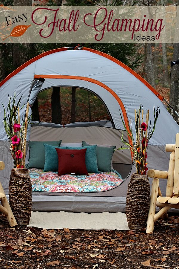 Turn your back yard into the ultimate retreat with these easy #FallGlamping ideas! #Glamping ad